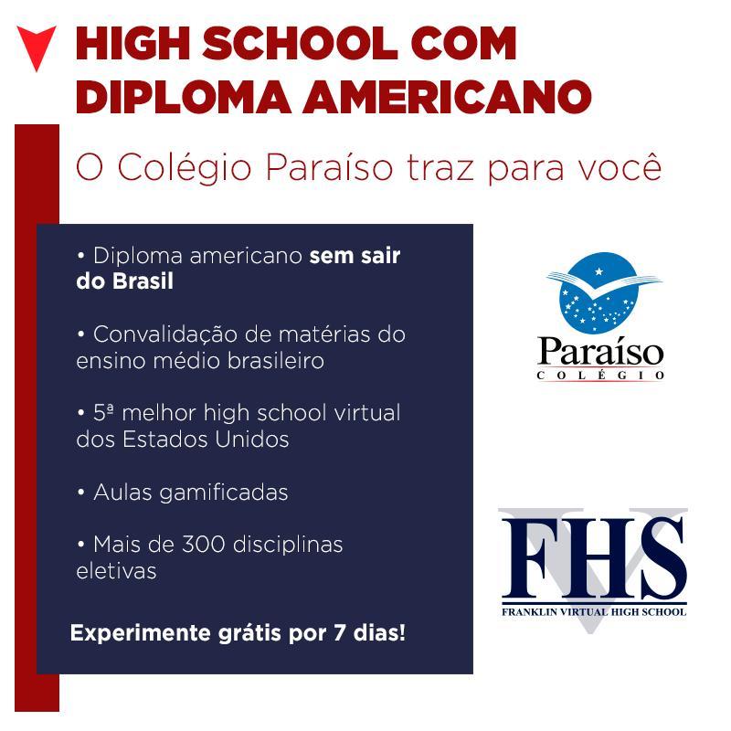High School com diploma americano