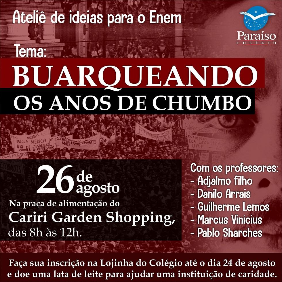 Buarqueando os Anos de Chumbo: aula literária reflete sobre a obra de Chico Buarque na Ditadura Militar