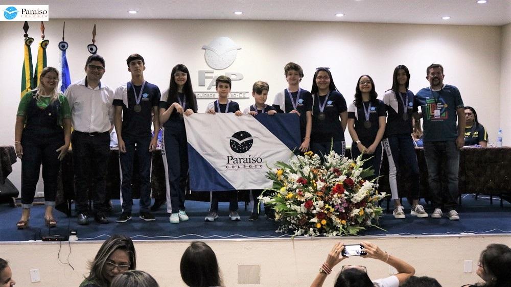 Cerimônia de entrega de medalhas da Olimpíada Brasileira de Raciocínio Lógico 2019