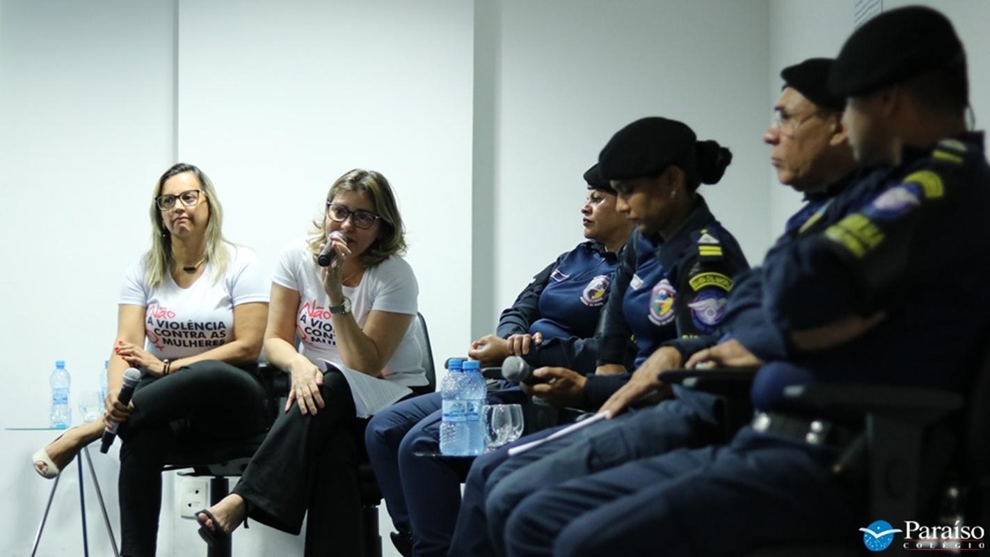Patrulha Maria da Penha: evento reuniu estudantes do Ensino Médio para discutir ações de proteção feminina