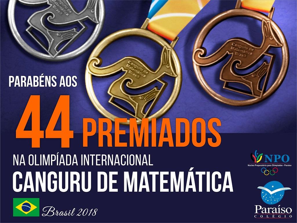 Estudantes premiados na Olimpíada Internacional Canguru de Matemática