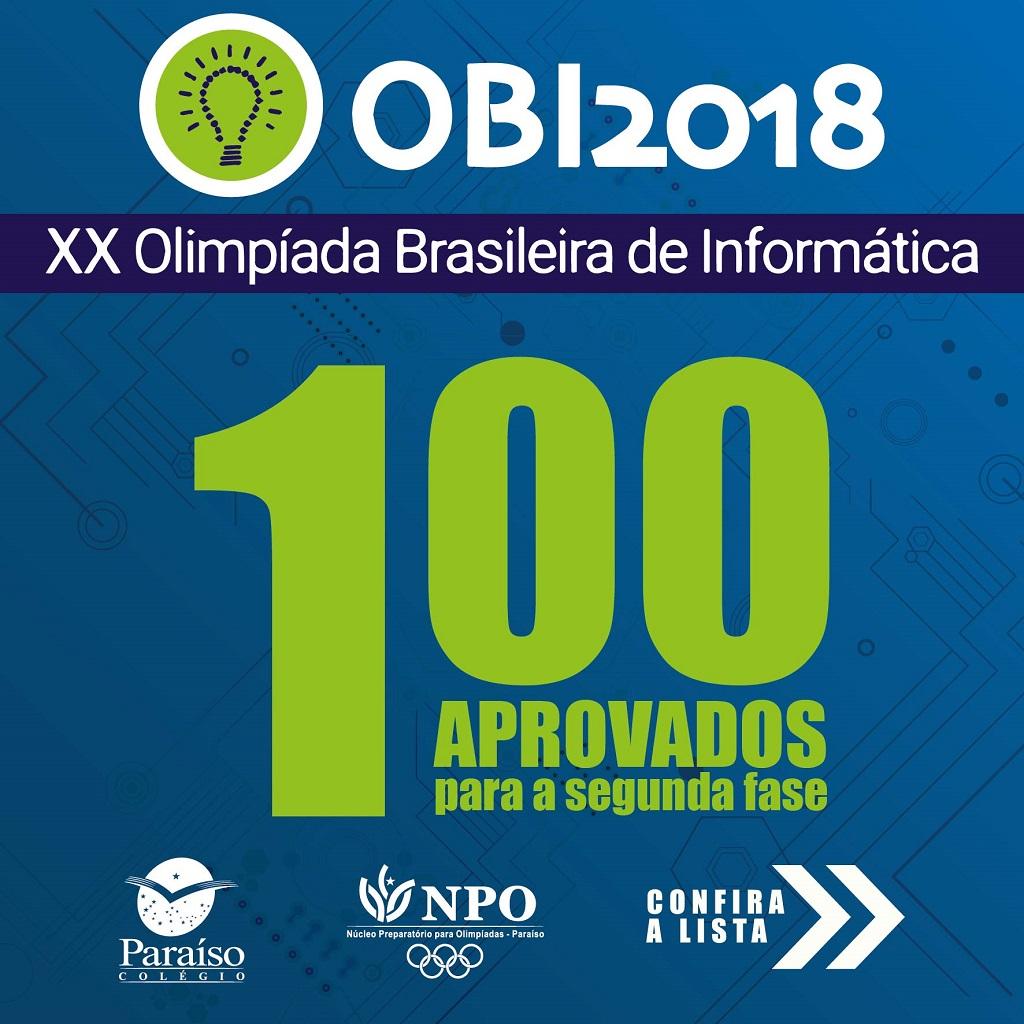 Classificados para a II Fase da OBI 2018