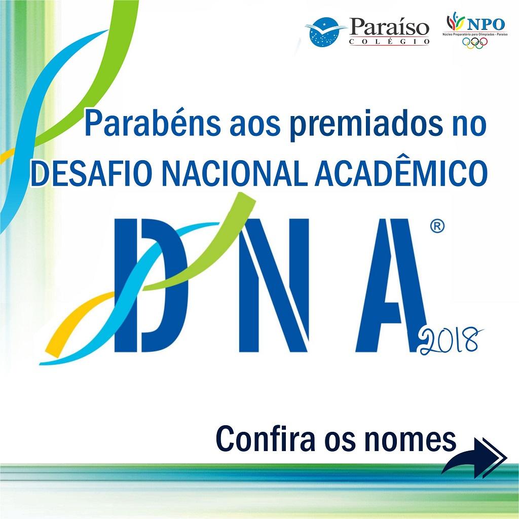 Resultado da DNA 2018