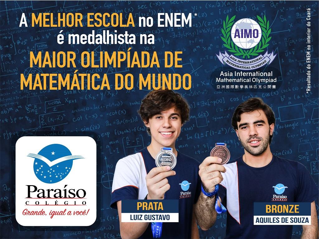 Únicos do Ceará: estudantes de Juazeiro do Norte conquistam medalhas na maior olimpíada de Matemática do mundo