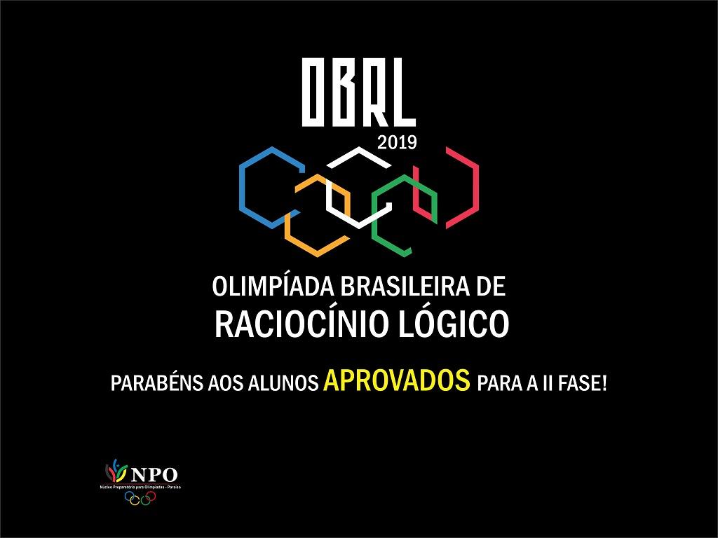 Estudantes classificados para a II fase da Olimpíada Brasileira de Raciocínio Lógico 2019