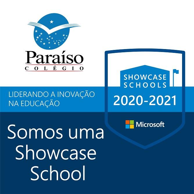 Somos uma Microsoft Showcase School