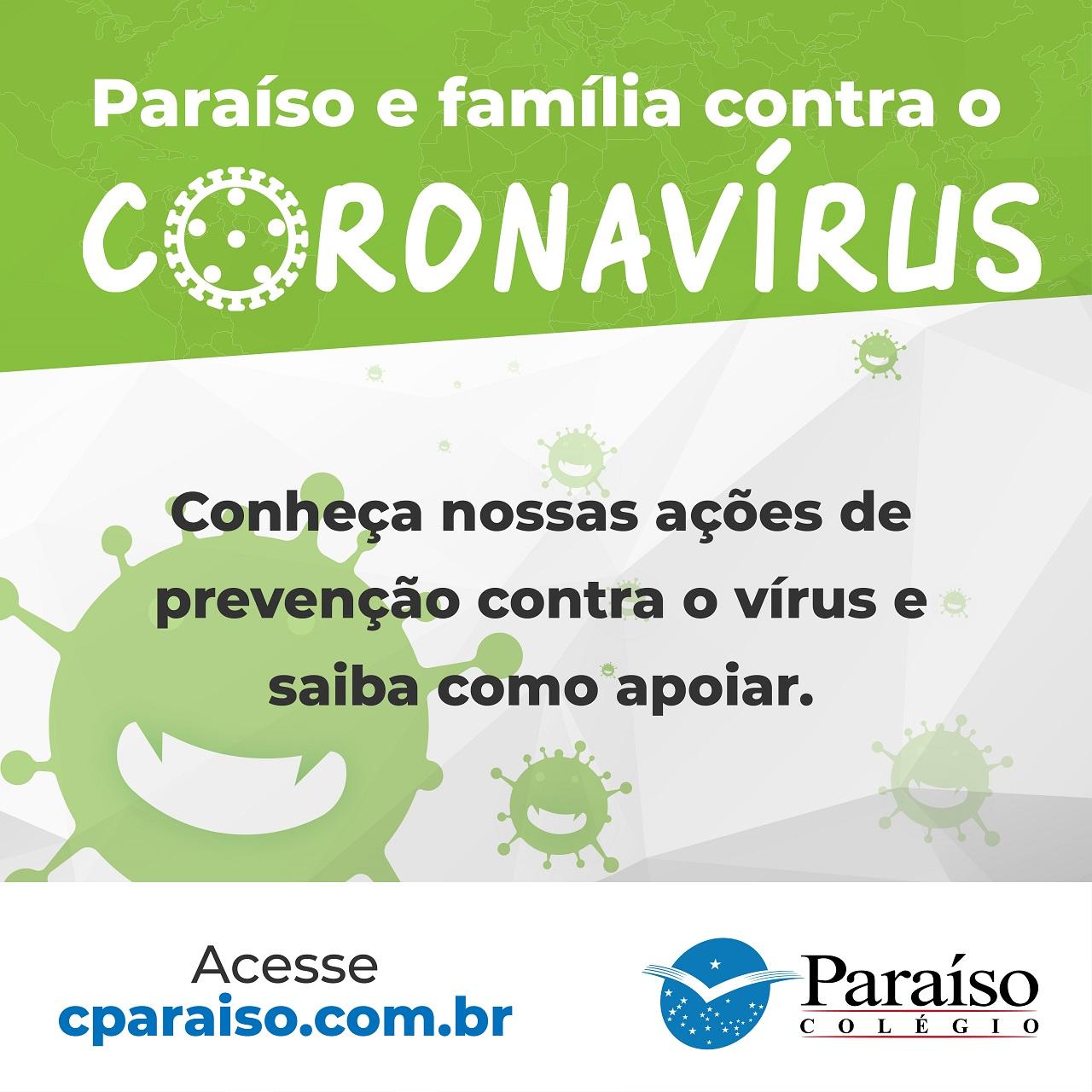 Informe - Paraíso e Família contra o Coronavírus